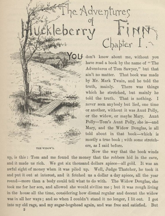 an analysis of the tale of huckleberry finn as told by mark twain Summary by michael mcgoodwin, prepared 2002 acknowledgement : this work has been summarized using the mark twain library 2002 edition quotations are for the most part taken from that work, as are paraphrases of its commentary.