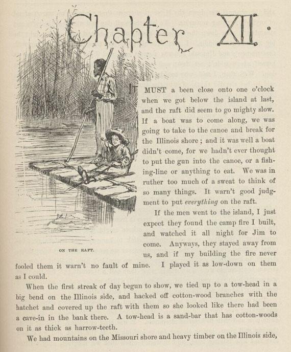 Mark Twain Read Amp Listen Huck Finn Chapter 12