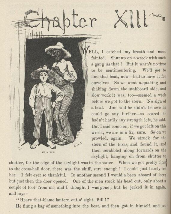 Mark Twain Read Amp Listen Huck Finn Chapter 13